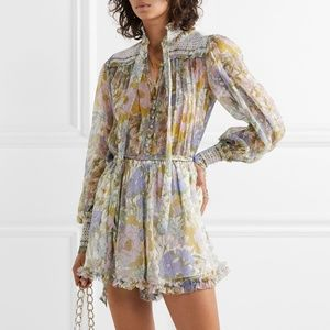 Zimmermann Floral Silk-Chiffon Playsuit - 🎉💎 HP